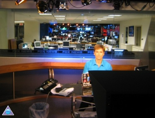 Being interviewed on Fox News Channel via satellite