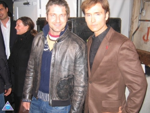 Gerard Butler at the Heart Truth Fashion Week event