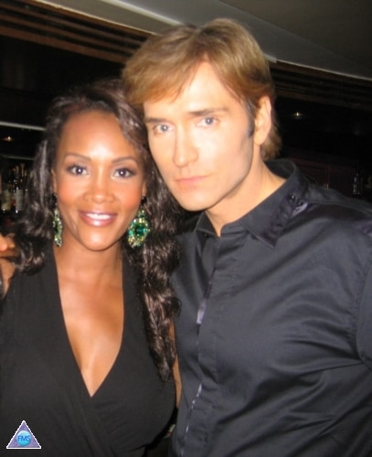 "Vivica & me at the premiere party for her new show - ""The Cougar"" on TVLand"