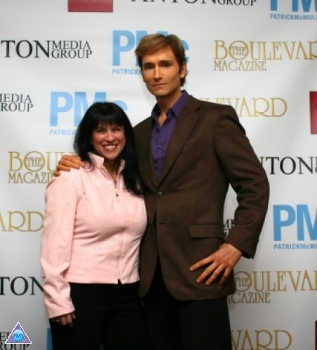 Fran & me on the red carpet for Boulevard Magazine
